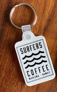 SURFERS COFFEE  キーチェーン WHITE