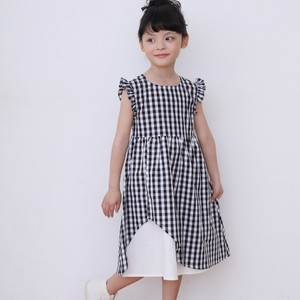 S/S Gingham Check One-piece Dress