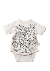 """2020 New Item"" Organic Cotton Baby Animal Sport Tournament Rompers"
