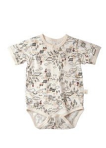 Organic Cotton Baby Open Rompers