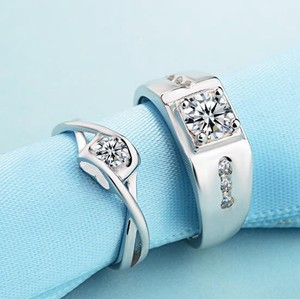 Glitter Couple Ring Fashion Ring Marriage Ring