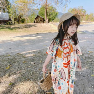Children's Clothing One-piece Dress Kids Casual Korea