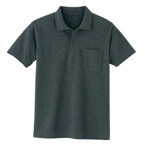 Kanoko Short Sleeve Polo Shirt Gray