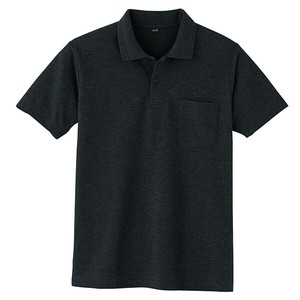 Kanoko Short Sleeve Polo Shirt Black