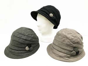 Walnut Button Attached Casquette