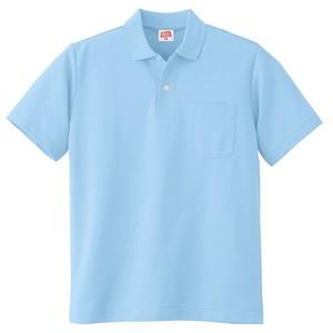 100 ヘビーウェイト 半袖ポロシャツ(ポケット付き) サックス