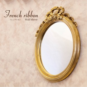 French Ribbon Wall Mirror Oval