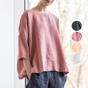 Round Neck Plain T-shirt Casual Top
