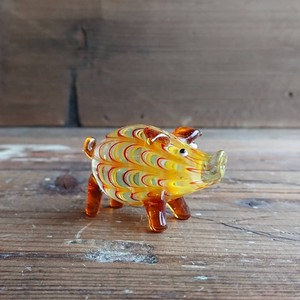 Glass pig Ornament