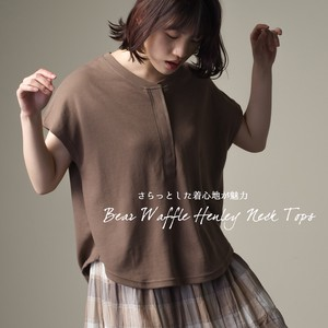 Waffle Henry Neck Top