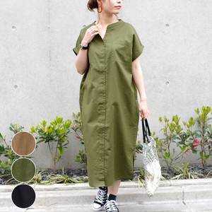 [ 2020NewItem ] Stand Color Shirt One-piece Dress mitis