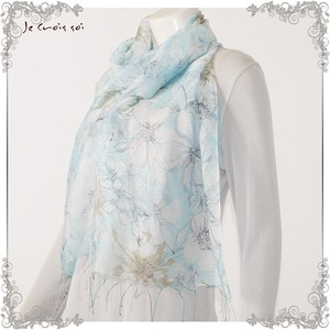 [ 2020NewItem ] 3 Colors Silk Flower Blur Flower Watermark Stole India Stole