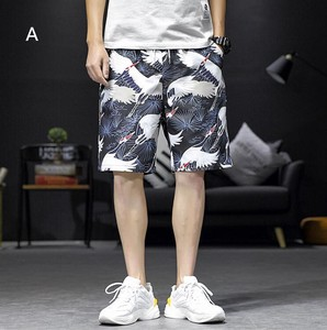 Floral Pattern Men Half Length Shor Pants 2 Colors