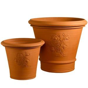 ウィッチフォード社製 テラコッタ植木鉢《ブロックリープランターズ》  プレーンテラコッタ