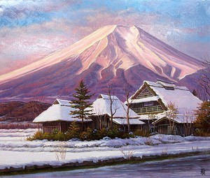 Japanese Writer Fuji Fuji None Canvas Attached