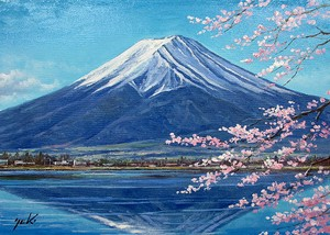 Japanese Writer Fuji Sakura None Canvas Attached