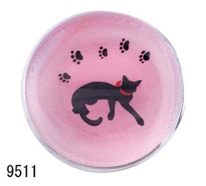 Ornament Interior Glass Chopstick Rest Ribbon Cat