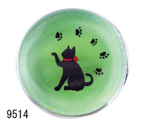 Japanese summer features Ornament Interior Glass Chopstick Rest Ribbon Cat
