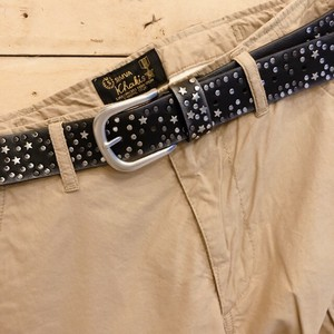 "Studs Belt Socks Star Black ""2020 New Item"""