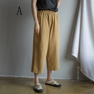 Linen Cropped Pants Pants Leisurely Stretchy Waist