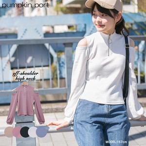 [ 2020NewItem ] Ring Attached Off-Shoulder Petit Neck Pullover