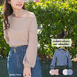 [ 2020NewItem ] Single-shoulder Attached Petit Neck Pullover