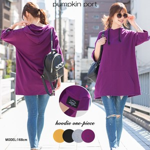 [ 2020NewItem ] Korea Cotton Fleece Hoody One-piece Dress Tunic