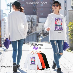 [ 2020NewItem ] Korea Cotton Polyester Face Front Photo Print Big Long T-shirt