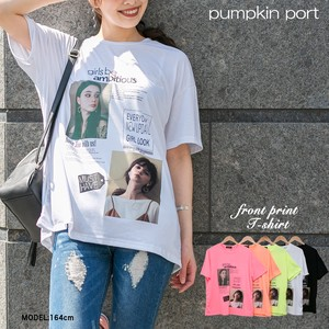 [ 2020NewItem ] Korea Rayon Front Photo Print Big Long T-shirt