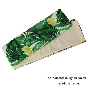 Yukata Reversible Ladies Yukata Fancy Goods Leaf Leaf Green