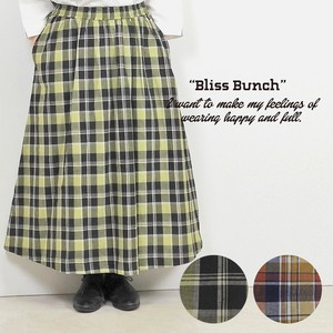 Cotton Dyeing Checkered Gather Skirt