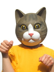 cat Cat Cat Animal Mask Cosplay Costume Costume Event Rubber Mask
