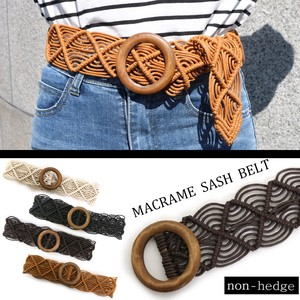 """2020 New Item"" Macrame Wood Ring Belt"
