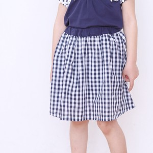 S/S Pants Skirt Checkered Floral Pattern
