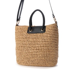 Mesh Handle Hand Knitting Tote Bag