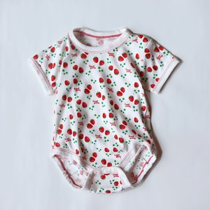 2 Pcs Strawberry Short Sleeve Rompers
