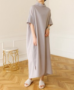 Sold Out Reserved items Switching Wave Button Roll Deformation Long One-piece Dress