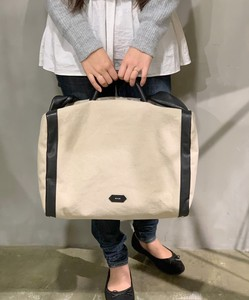Cotton Linen Leather Big Overnight Bag