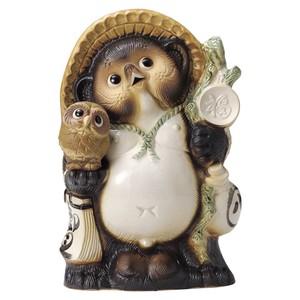 Ornaments ceramic racoon dog statue