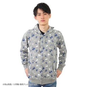 [ Detective Conan (Case Closed) ] Fleece Repeating Pattern Hoody