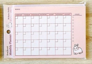 Life Memo Pad Animals Plan Rabbit made Japan