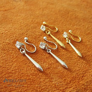 Hall Pierced Earring sharp Drop Metal Earring