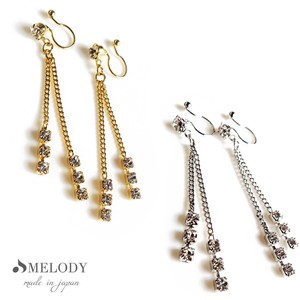 Hall Pierced Earring Chain Stone Earring