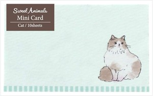 Animals cat Cat made Japan Card
