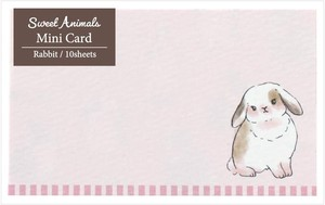 Animals Rabbit made Japan Card