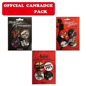 【リメイク】 CAN BADGE PACK 缶バッジ【 Michael Jackson 、Beatles】