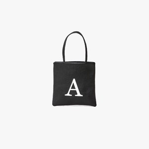 TASINAMI 日本製 Leather Initial Embroidery Mini Tote