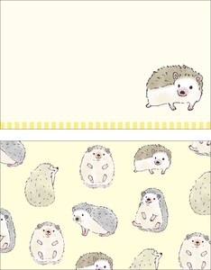 Animals Hedgehog Japan Card