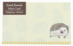 Animals Hedgehog made Japan Card