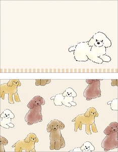 Animals Toy Poodle Japan Card
